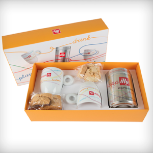 Illy Mug and Biscotti Gift Box